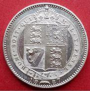 ♕♕  Grande Bretagne / Great Britain One Shilling Argent ' Victoria ' 1887 - SUP  ♕♕ - 1816-1901 : Frappes XIX° S.