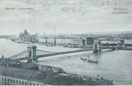 Budapest-  Lanczid - Kettenbrücke  - 2 Scan - Hongrie