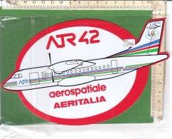 PO6774D# ADESIVO STICKER AVIAZIONE - AEROSPATIALE AERITALIA ATR 42  - AEREI - Adesivi