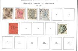 Hong Kong 1863/80 Queen Victoria Valore 6 Usato Scott.8/11+14+18+ See Scans - Usados