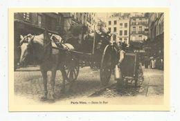 Réédition De Cp , Ed : Cecodi , Vierge ,  COMMERCE AMBULANT , Dans La Rue , Paris Vécu , Laitier - Marchands