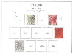 Hong Kong 1882/1902 Queen Victoria Valore 4 Usato Scott.37+39+44+45 See Scans - Gebruikt
