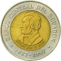 Équateur, 100 Sucres, 1997, TTB+, Bi-Metallic, KM:101 - Equateur