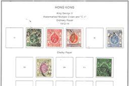 Hong Kong 1912/14 George V° Valore 6 Usato Scott.110+111+112+114+116+119 See Scans - Hong Kong (...-1997)