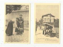 Réédition De Cp , Ed : Cecodi , Vierge ,  COMMERCE AMBULANT , LOT DE 2 CARTES POSTALES - Mercanti