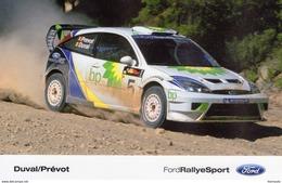 Ford Focus WRC  - Pilotes: Francois Duval/Stéphane Prévot  -  Carte Promo - Rally Racing