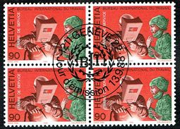 .B.I.T. BLOC DE 4 TIMBRES OBLITERES 1er/J.1988 C/.S.B.K. Nr:110. Y&TELLIER Nr:465.  MICHEL Nr:109. - Officials