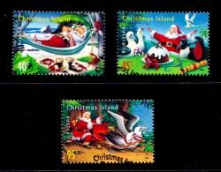Christmas Island 1999 Christmas Set Of 3 Used - Christmaseiland
