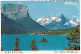St. Mary Lake & Goose Island, Glacier National Park, Montana - (MT) - Stati Uniti