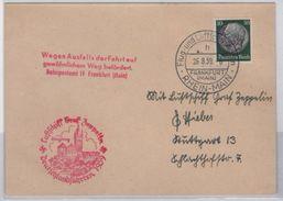 Germany (1939) - Card -  /  Graf Zeppelin - Frankfurt 26/08/1939 - Zeppelin