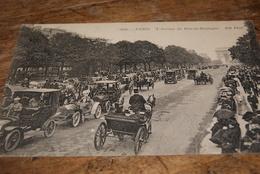 L'avenue Du Bois De Boulogne - Paris 1912 (très Animée) - Taxi & Carrozzelle