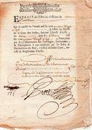 Jean De La Marlière,Sieur De Berteaucourt,prévost.Extrait De L'état Des Officiers De L'artillerie.12 Octobre 1688. - Historische Dokumente