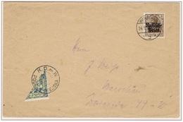 WARSZAWA - VARSOVIE - Poste Locale - Demi-timbre Sur Lettre Oblitération 24 Septembre 1915 - Michel N° 1 - RARE - ....-1919 Gouvernement Provisoire