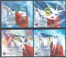 2005 MALTE BF 28-31** Commonwealth, Drapeaux - Malta