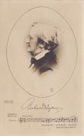 """Buste De Richard Wagner Avec Signature & Première Ligne Du Chant""""Lohengrin, Brautlied"""" 1812-1883 - Musique Et Musiciens"""