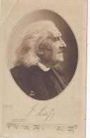 """Buste De Frantz Liszt Avec Signature - Première Ligne De La Musique De """"Rhapsodie Hongroise"""" 1811-1886 - Musique Et Musiciens"""