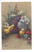 17121 - Joyeuses Pâques Poussins Oeufs Narcisses Edition HWB - Petersen, Hannes
