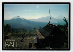 MAXI  CARD   BALI    -PEACEFUL MORNING IN  KINTAMANI    2  SCAN   (VIAGGIATA) - Indonesia