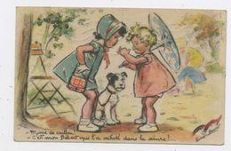 """CPA: ILLUSTRATEURS - GERMAINE BOURET - """"MINCE DE CAILLOU! - C'EST MON BEBERT QUI L'A ACHETÉ DANS LA SCIURE!  """"  Edit: PB - Bouret, Germaine"""