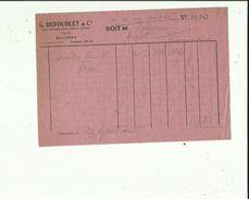 Facture De G  DUFOURCET&Cie Outillage-Quincaillerie A Bayonne Adressé A Mr Talpone Anglet 1946 - 1900 – 1949