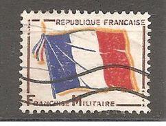 Franchise Militaire FM 13 Sans Valeur Drapeau Bleu Blanc Rouge  Oblitéré - Franchise Stamps