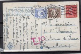 Postage Due Belgium 1928 Niels Esperson Building Houston-Texas > Antwerp (u399) - United States