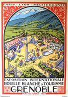 PLM Exposition Int.le Houille Blanche & Tourisme Grenoble 1925 - Postcard-poster Reproduction - Publicité