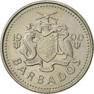 Barbados, 25 Cents, 1990, Franklin Mint, SUP, Copper-nickel, KM:13 - Barbades