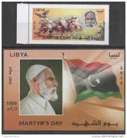 LIBYA, 2015, MNH, MARTYRS DAY, FLAGS, HORSES, BIRDS, 1v+S/SHEET - Islam