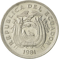 Équateur, 20 Centavos, 1981, SUP+, Nickel Plated Steel, KM:77.2a - Ecuador