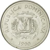 Dominican Republic, 25 Centavos, 1990, SUP+, Nickel Clad Steel, KM:71.2 - Dominicana