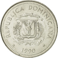 Dominican Republic, 25 Centavos, 1990, SUP+, Nickel Clad Steel, KM:71.2 - Dominicaine