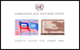 Haiti, 1958, United Nations, UNESCO, UNICEF, FAO, MNH, Michel Block 10 - Haïti
