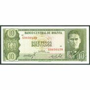 TWN - BOLIVIA 154q - 10 Pesos Bolivianos 13.7.1962 Serie S3 UNC - Bolivia