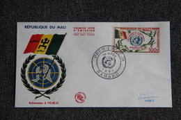 FDC  - 1er Jour D'Emission - République Du MALI , Admission à L'ONU - Mali (1959-...)