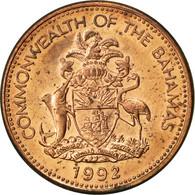Bahamas, Elizabeth II, Cent, 1992, Franklin Mint, SUP, Copper Plated Zinc - Bahamas