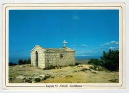 MAXICARD      KAPELA  SV. NIKOLE  OSORCICA     2 SCAN   (VIAGGIATA) - Yugoslavia