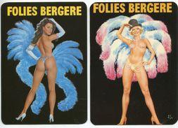 PARIS - Folies Bergère - 2 Cartes Illustrées Par ASLAN- Voir Scan - Cabarets