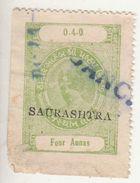 LATHI State / SAURASHTRA  O/p  4A  Revenue  Type 10  K&M 103  #  98091   Inde Indien  India Fiscaux Fiscal Revenue - Ohne Zuordnung