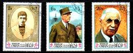 STATE Of OMAN. 3 Timbres Oblitérés. De Gaulle. - De Gaulle (General)