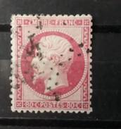 FRANCE Oblitéré , N° 24 , TTB, Napoleon Etoile Chiffre 4 Quatre - 1862 Napoleon III