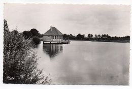AUBIGNY SUR NERE--1957--Parc Des Sports,Le Bar Sur Le Lac ,cpsm 14 X 9   éd Combier--timbre -cachet - Aubigny Sur Nere