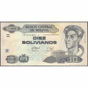 TWN - BOLIVIA 238A - 10 Bolivianos 28.11.1986 (2013) Serie I - Printer: OT UNC - Bolivia