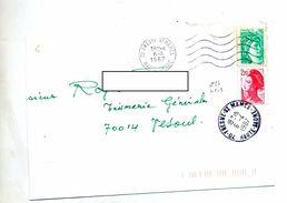 Lettre Cachet Et Flamme Muette Fresne - Postmark Collection (Covers)