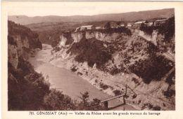 Genissiat Vallée Du Rhône Avant Les Grands Travaux Du Barrage - Génissiat
