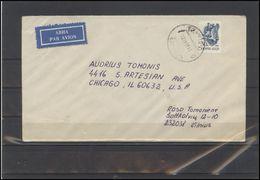 LITHUANIA Postal History Bedarfsbrief Cover 198 Fauna Birds Crane Air Mail - Lithuania