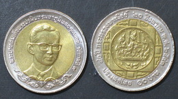 Thailand Coin 10 Baht Bi Metal  2000 80th Ministry Of Commerce Y358 UNC - Thailand