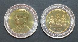 Thailand Coin 10 Baht Bi Metal 2000 50th Economic Development Board Y371 UNC - Thailand
