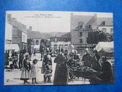 FINISTERE  29    PONT-L´ABBE   -  MARCHANDES    -  PLACE DUMAHALLEC´H   -   ENTREE DES URSULINES      ANIME    TTB - Pont L'Abbe