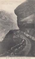 Mount Kazbek In Caucasus Mountains, Old Georgia Military Road Imperial Russia, C1900s Vintage Postcard - Georgia